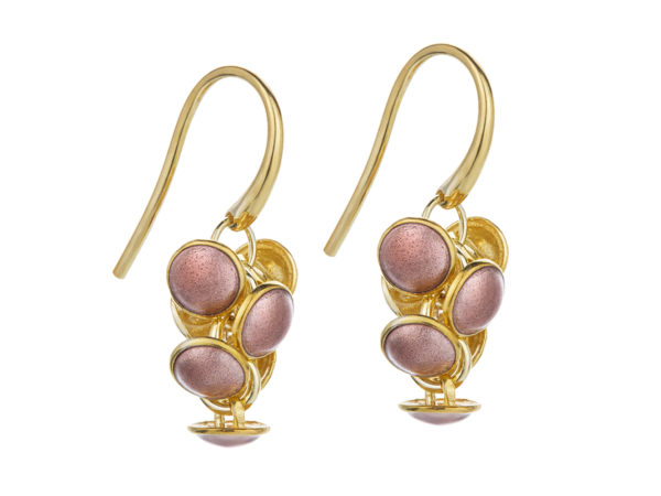 Seashell earrings pink, gold plated. KL006A. 1200,-