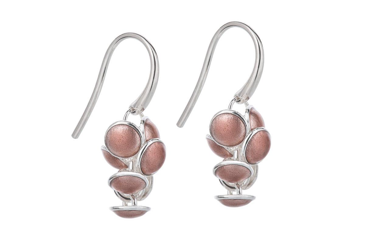 Seashell earrings pink. KL006. 1000,-