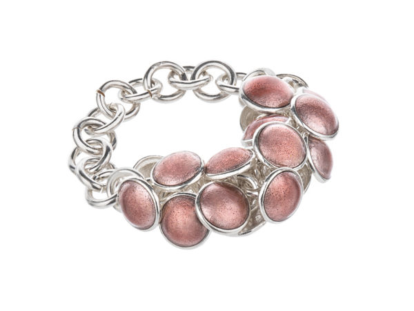 Seashell ring pink 1 row. KL001. 1700,-