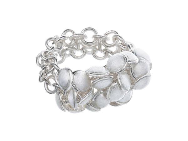 Seashell ring white 2 row. KL002. 2200,-