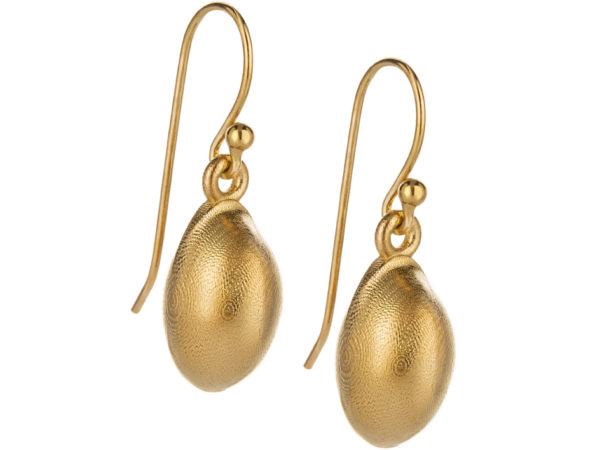 Seaweed earrings, gold plated. Series 1. 1400,-