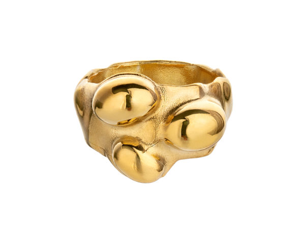 Seaweed ring, gold plated. Series 2. 2700,-